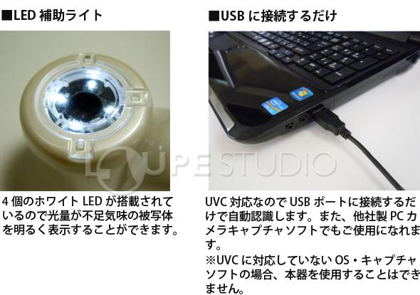 LED補助ライト,USBに接続するだけ