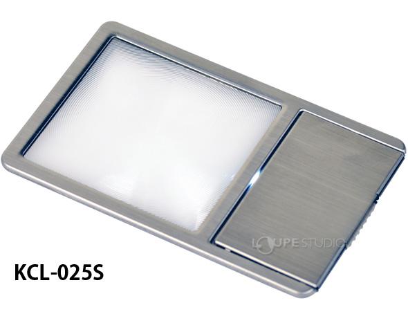極薄カード型拡大鏡LED付き