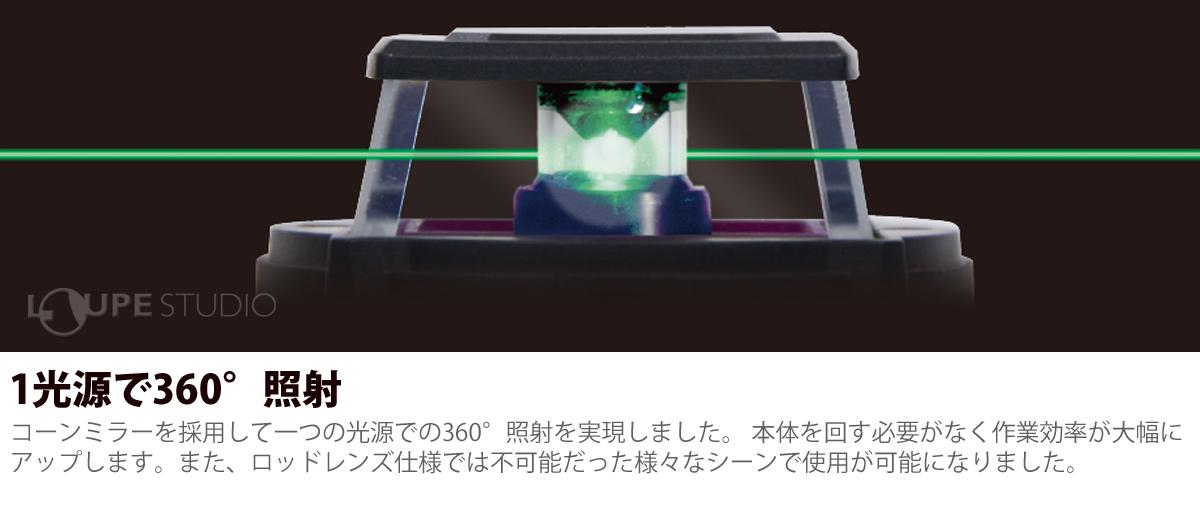 1光源で360°照射