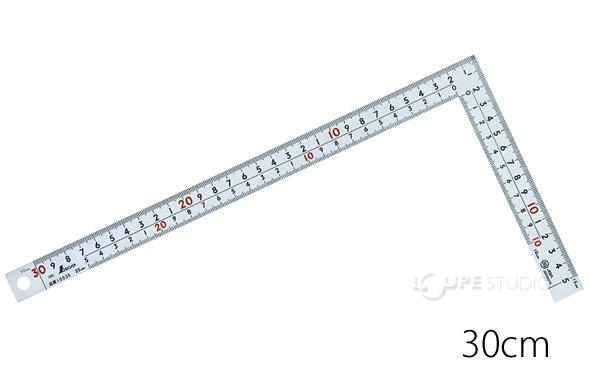 曲尺広ピタ シルバー 30cm 表裏同目 8段目盛 JIS