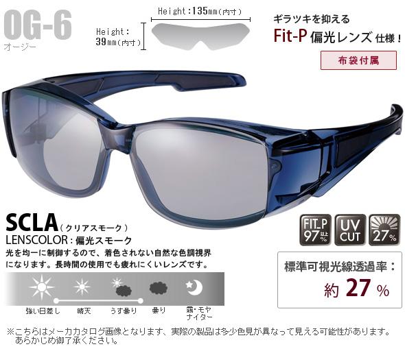 オーバーグラス フレームレス偏光レンズモデル OG-6